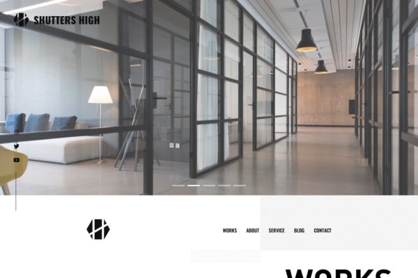 Web design concept for Photo Studio.