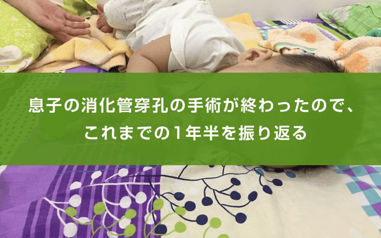 息子の消化管穿孔の手術が終わったので、これまでの1年半を振り返る