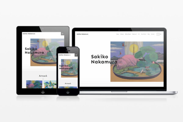 画家・中村咲子 – 多言語対応サイト制作